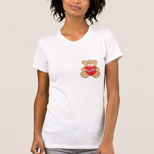 sweetie heart love valentine teddy bear design t shirt
