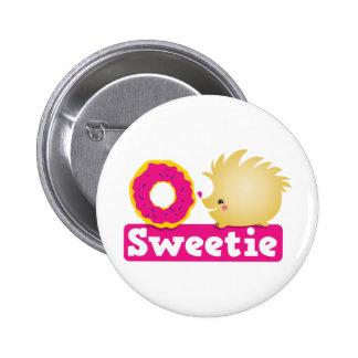 sweetie HEDGEHOG Button
