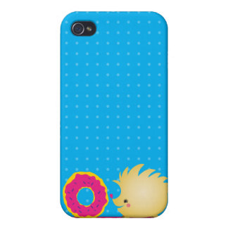 sweetie HEDGEHOG with doughnut iPhone 4/4S Cover