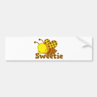 SWEETIE Honey Bee kawaii cutie design Bumper Sticker