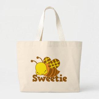 SWEETIE Honey Bee kawaii cutie design Large Tote Bag