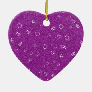 sweetie hot pink Double-Sided heart ceramic christmas ornament
