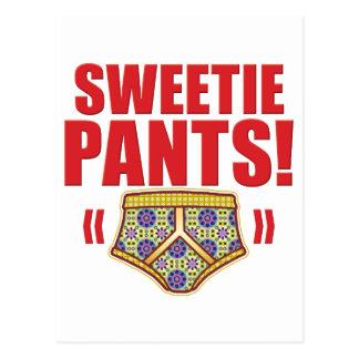 Sweetie Pants Flowery Postcard