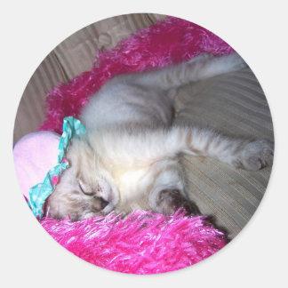 sweetie pie in slumber classic round sticker