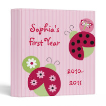 Sweetie Pie Ladybug Baby Photo Album Scrapbook 3 Ring Binder
