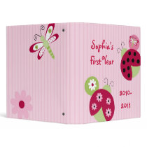Sweetie Pie Ladybug Baby Photo Album Scrapbook Binder