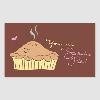 Sweetie Pie Rectangular Sticker