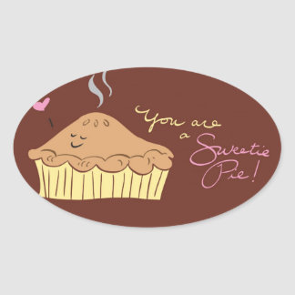 Sweetie Pie Oval Sticker