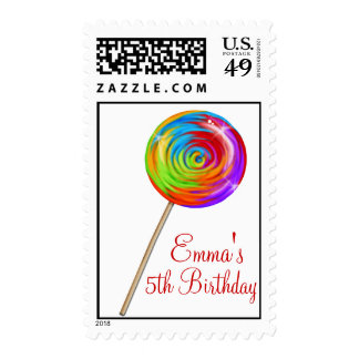 Sweetie Pop Lollipop Candy Postage Stamps