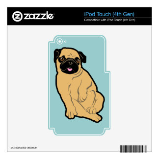 Sweetie Pug Decal For iPod Touch 4G