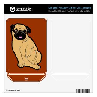 Sweetie Pug FreeAgent GoFlex Skin