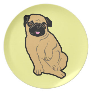 Sweetie Pug Party Plate