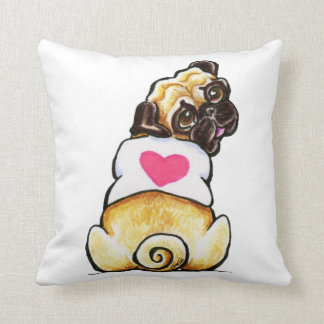 Sweetie Pug Throw Pillow