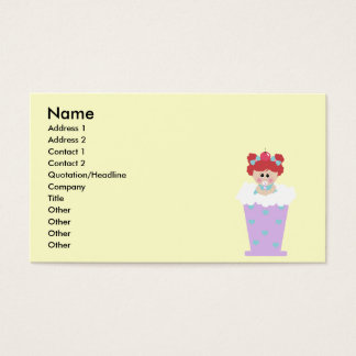 sweetie tooth ice cream soda cutie girl business card