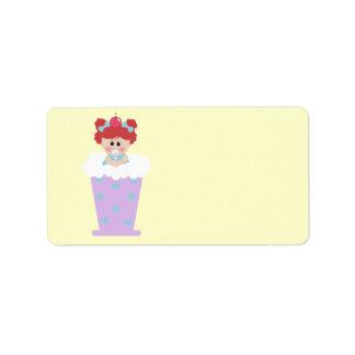 sweetie tooth ice cream soda cutie girl label
