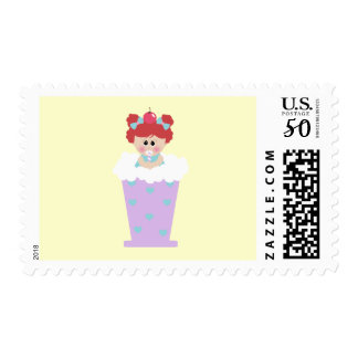 sweetie tooth ice cream soda cutie girl postage