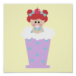 sweetie tooth ice cream soda cutie girl posters