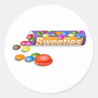 Sweeties Pegatina Redonda