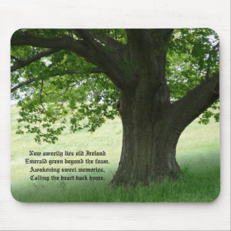 Sweetly lies old Ireland-Tree with verse Mouse Pad
