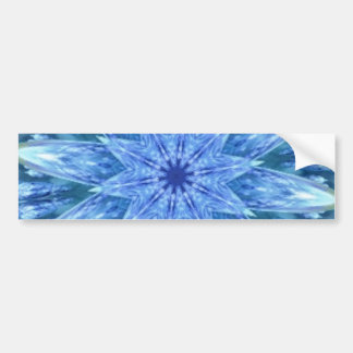 Sweetly Romantic Teal Blue Kaleidoscope Bumper Stickers