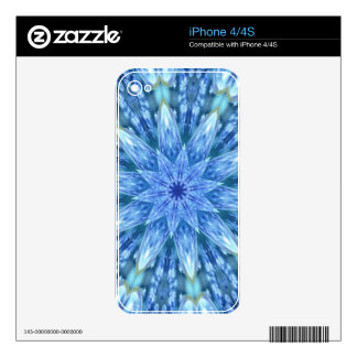 Sweetly Romantic Teal Blue Kaleidoscope Skins For The iPhone 4S