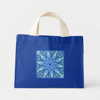 Sweetly Romantic Teal Kaleidoscope Small Blue Mini Tote Bag