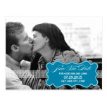 Sweetly Sealed Save The Date Postcard - Turquoise