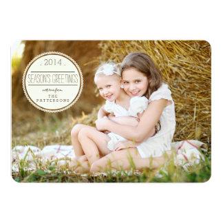 Sweetly Sealed Season's Greetings Photo Card Invites