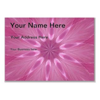 Sweetly Soft Pink Girly Kaleidoscope Large Business Card