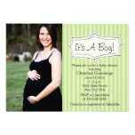 Sweetly Striped Baby Shower Photo Invitation