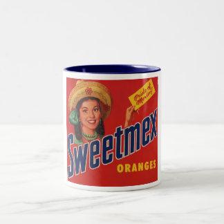 sweetmex oranges label mug