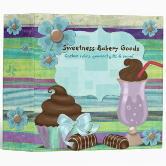 Sweetness Bakery CUSTOM CAKE DESSERTS PORTFOLIO 3 Ring Binder