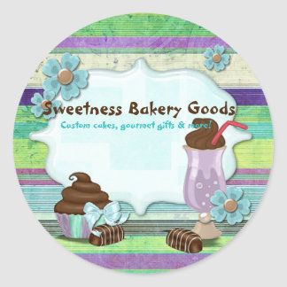 Sweetness Bakery CUSTOMER CAKES DESSERTS Classic Round Sticker