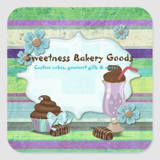 Sweetness Bakery CUSTOMER CAKES DESSERTS Square Sticker