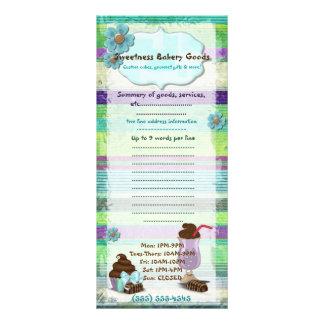 Sweetness Bakery DINER VEGAN BAKERY CUSTOM Custom Rack Card