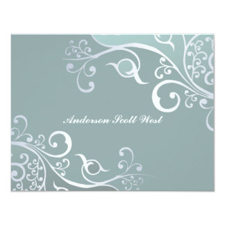 Sweetness Blue Personalized Thank You/Notecard Card