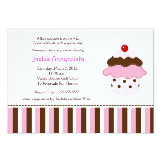 Sweetness 'Lil Cupcake 5x7 Baby Shower Invitation