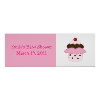 Sweetness Lil Cupcake Pink/White Custom Banner Posters