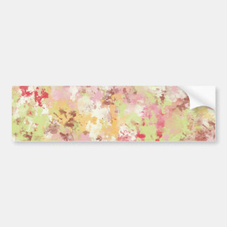 Sweetness Paper MULTI-COLORED PAINTED DIGITAL BACK Bumper Sticker