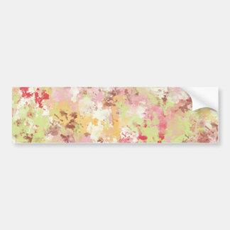 Sweetness Paper MULTI-COLORED PAINTED DIGITAL BACK Bumper Sticker