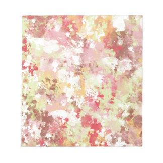 Sweetness Paper MULTI-COLORED PAINTED DIGITAL BACK Memo Note Pad