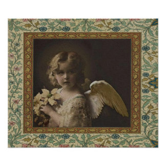 Sweetness - Two Little Girl Angels Poster