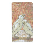 Sweetness whimsical perfect couple bird art love shipping label