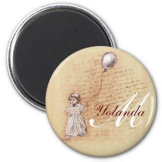 SweetOldDreamSquareCircle, M, Yolanda 2 Inch Round Magnet
