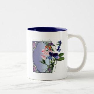 Sweetpea flowers mug