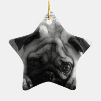 SweetPea Pugs Ceramic Ornament