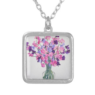 Sweetpeas 2007 silver plated necklace