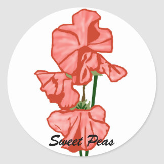 sweetpeas pegatinas de los guisantes de olor