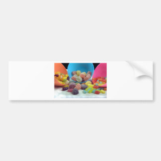 Sweets and candy car bumper sticker