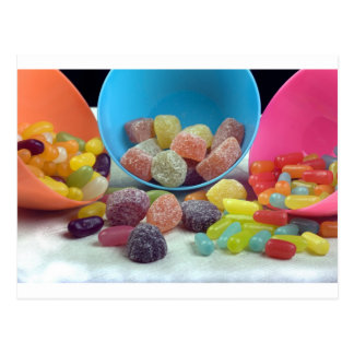 Sweets and candy postcards